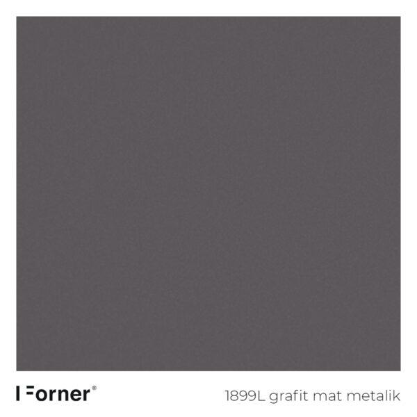 próbka koloru 1899L grafit mat metalik - płyty meblowe supermat Forner Scratch Resistant