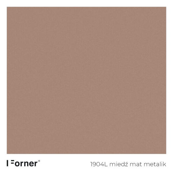 próbka koloru 1904L miedź mat metalik - płyty meblowe supermat Forner Scratch Resistant