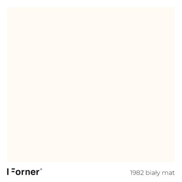 próbka koloru 1982 biały mat - płyty meblowe supermat Forner Scratch Resistant