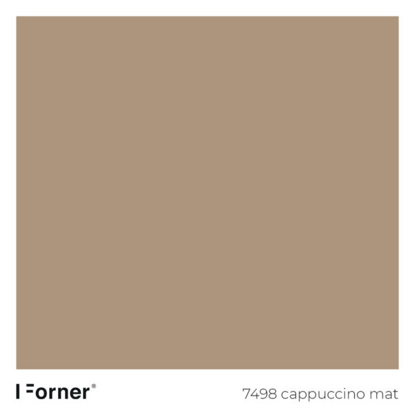 próbka koloru 7498 cappuccino mat - płyty meblowe supermat Forner Scratch Resistant