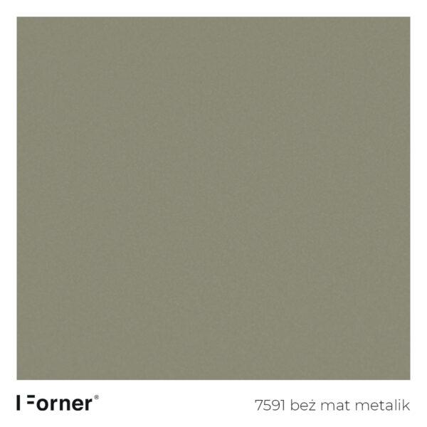 próbka koloru 7591 beż mat metalik - akrylowe płyty meblowe supermat SR Forner