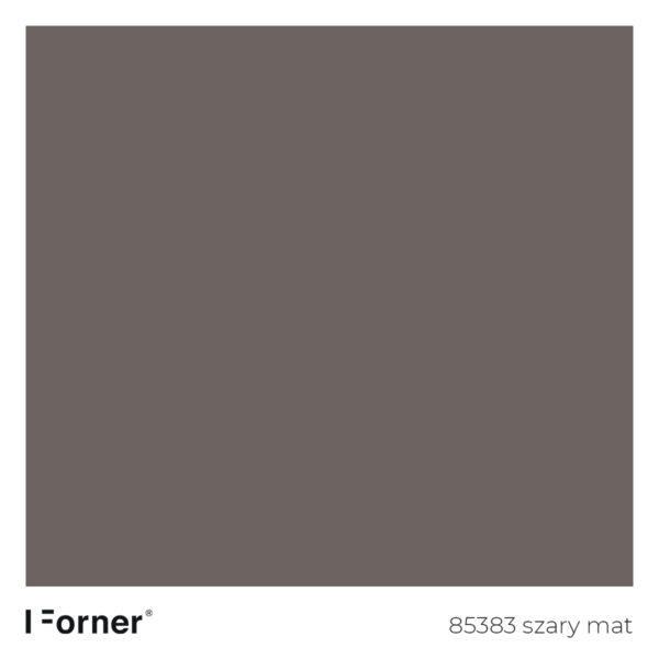 próbka koloru 85383 szary mat - płyty meblowe supermat Forner Scratch Resistant