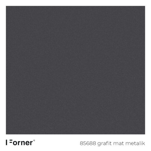 próbka koloru 85688 grafit mat metalik - akrylowe płyty meblowe supermat SR Forner