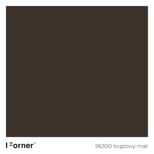 próbka koloru 96300 brązowy mat - płyty meblowe supermat Forner standard