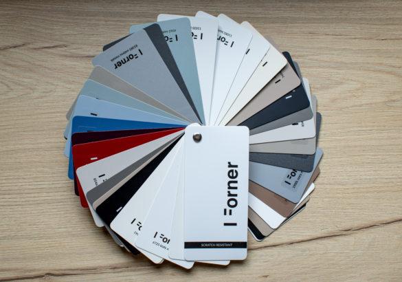 Akrylowe płyty i fronty meblowe - wysoki połysk i głeboki mat - scratch resistant - wzornik FORNER