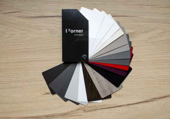 Akrylowe płyty i fronty meblowe - wysoki połysk i głeboki mat - standard - wzornik FORNER