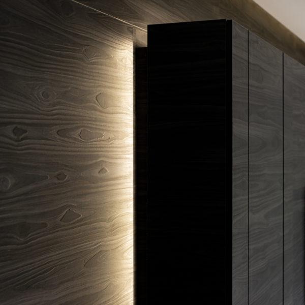 Drewno Paulownia - wzór na włoskiej płycie meblowej Cleaf Okobo