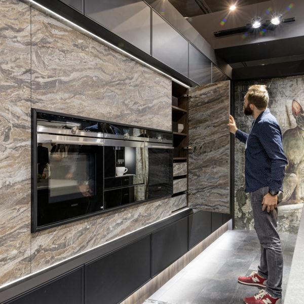 fronty zabudowy kuchennej z cienkiego blatu kompaktowego Forner agat OL03