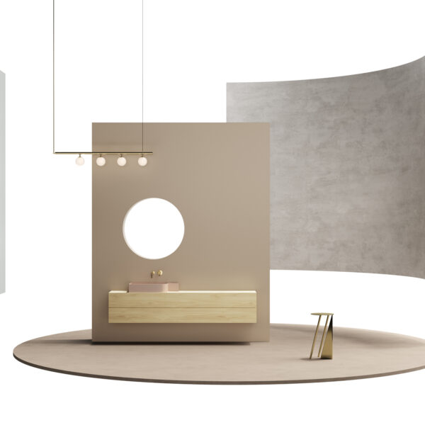 Okobo Nakano s162 - wizualizacja - możliwości zastosowania płyty meblowej, laminatów HPL i obrzeża Cleaf