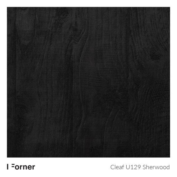 Sherwood U129 Nero - płyta meblowa FORNER z kolekcji Cleaf