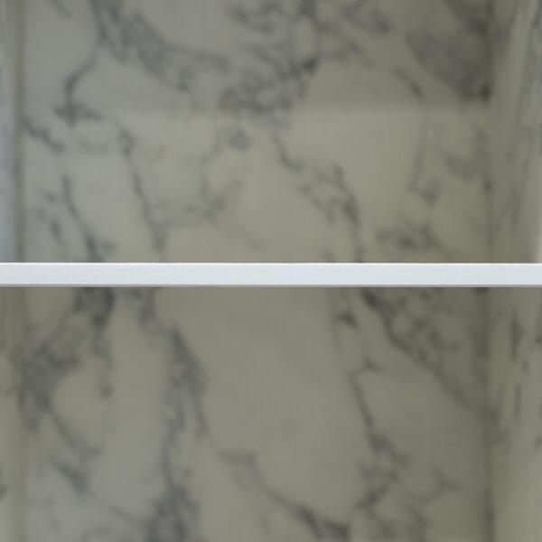 rdzeń blatu kompaktowego HPL Forner jest dopasowany kolorystycznie do powierzchni