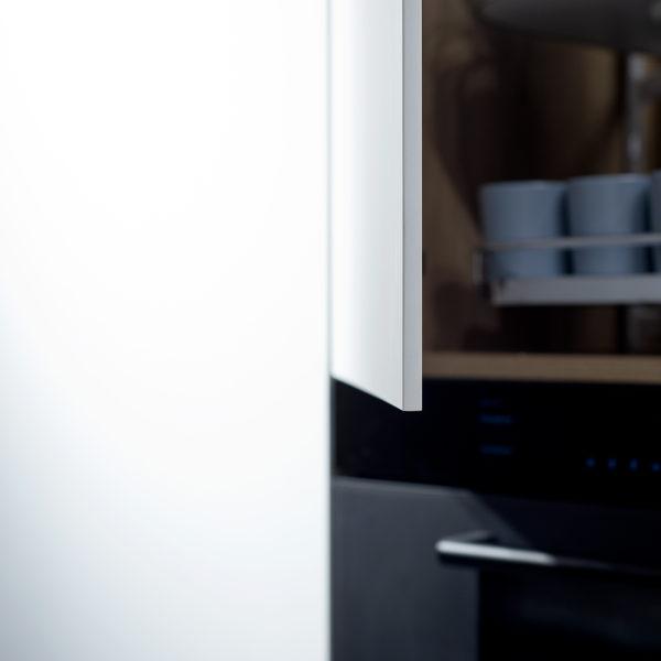 Forner Z108 biały głęboki mat - blat kompaktowy jako front mebla