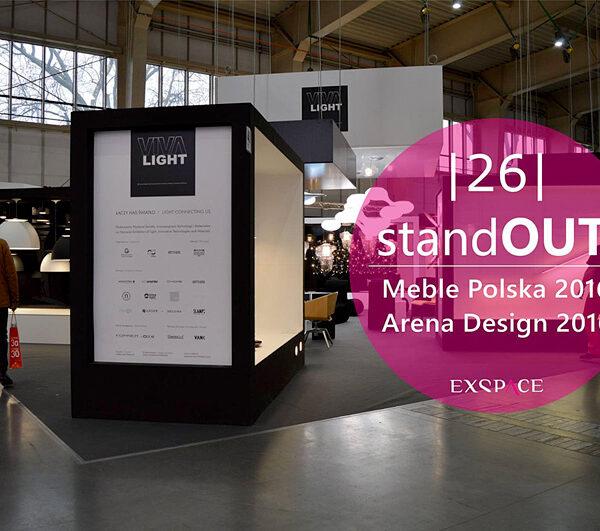 forner - wyróżnienie na Viva Light 2016 Poznań Arena Design