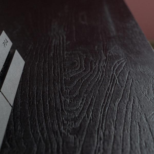 blat stolika RTV - czarny dąb - płyta meblowa Forner Sherwood U129 Nero