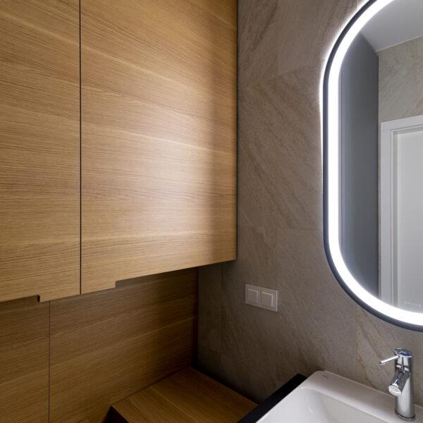 fronty w łazience z płyty meblowej sable lr22 valley Forner