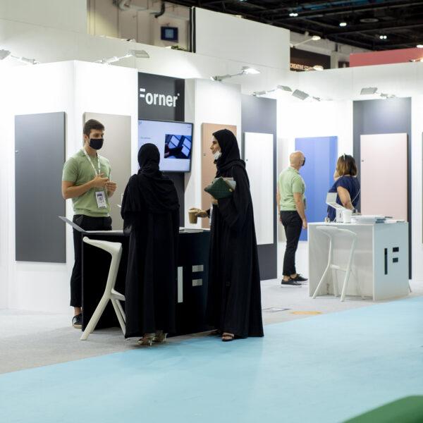 ekspozycja płyt meblowych Forner na Index Dubai 2021