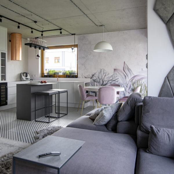 nowoczesna kuchnia otwarta na salon